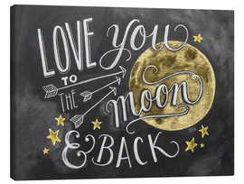 Canvastavla  Love you to the moon - Lily & Val