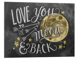 PVC-tavla  Love you to the moon - Lily & Val