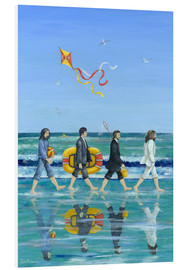 PVC-tavla  Abbey Road Beach - Peter Adderley