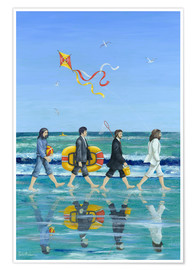 Premiumposter  Abbey Road Beach - Peter Adderley