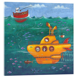 Akrylglastavla  Yellow Submarine - Peter Adderley