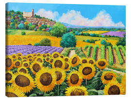 Canvastavla  Vineyards and sunflowers in Provence - Jean-Marc Janiaczyk