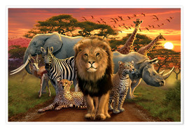Premiumposter  African beasts - Andrew Farley