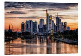 Akrylglastavla  Frankfurt Skyline Sunset Skyscrapers - Frankfurt am Main Sehenswert