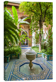 Canvastavla  Bahia Palace in Marrakech - Nico Tondini