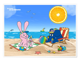 Premium poster  Elephant and Hare go on holiday