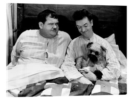 Akrylglastavla  Bedtime with Laurel & Hardy