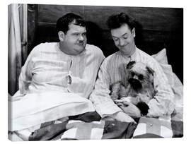 Canvastavla  Bedtime with Laurel & Hardy