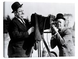 Canvastavla  THE BIG NOISE, Oliver Hardy, Stan Laurel