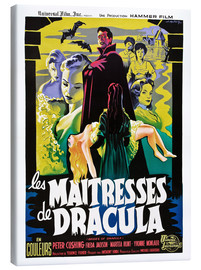 Canvastavla  THE BRIDES OF DRACULA (LES MAITRESSES DE DRACULA), David Peel