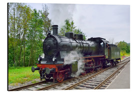 Aluminiumtavla  Old Steam Locomotive in the Black Forest - FineArt Panorama