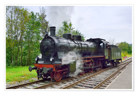 Premiumposter  Old Steam Locomotive in the Black Forest - FineArt Panorama