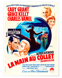 Premiumposter TO CATCH A THIEF, (LA MAIN AU COLLET), Cary Grant, Grace Kelly