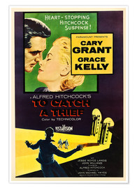 Premiumposter TO CATCH A THIEF, Alfred Hitchcock, Cary Grant, Grace Kelly