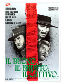 Premiumposter THE GOOD, THE BAD AND THE UGLY, (IL BUONO, IL BRUTTO, IL CATTIVO), Clint Eastwood, Lee Van cleef, El
