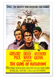 Premiumposter THE GUNS OF NAVARONE, David Niven, Gregory Peck, Anthony Quinn
