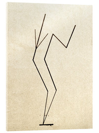 Akrylglastavla  Analytical drawing after photos of dancing?.. - Wassily Kandinsky