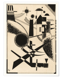 Premiumposter  Lithograph No III - Wassily Kandinsky