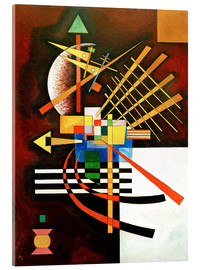 Akrylglastavla  Top and Left - Wassily Kandinsky