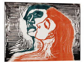 PVC-tavla  Man and woman is kissing - Edvard Munch