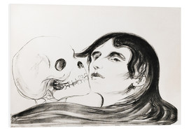 PVC-tavla  Kiss of Death - Edvard Munch