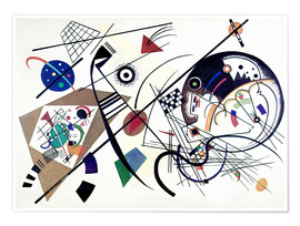 Premiumposter  Continuous line - Wassily Kandinsky