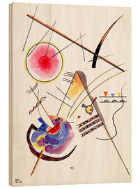 Trätavla  Watercolor from the Hess Guest Book - Wassily Kandinsky