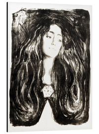 Aluminiumtavla  The brooch, Eva Mudocci - Edvard Munch