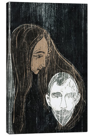 Canvastavla  Male Head with Woman's Hair - Edvard Munch