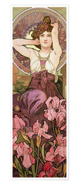 Premiumposter  The gems: Amethyst - Alfons Mucha