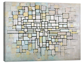 Canvastavla  Composition No. II - Piet Mondriaan