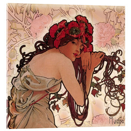 Akrylglastavla  The Seasons 1896: Summer (detalj) - Alfons Mucha