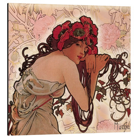 Aluminiumtavla  The Seasons 1896: Summer (detalj) - Alfons Mucha