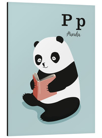 Aluminiumtavla  The animal alphabet - P like Panda - Sandy Lohß