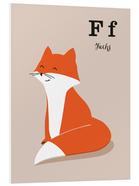 PVC-tavla  The animal alphabet - F like fox - Sandy Lohß