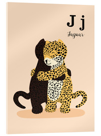 Akrylglastavla  The Animal Alphabet - J like Jaguar - Sandy Lohß