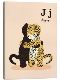 Canvastavla  The Animal Alphabet - J like Jaguar - Sandy Lohß