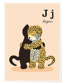 Premiumposter  The Animal Alphabet - J like Jaguar - Sandy Lohß