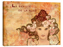 Canvastavla  Rose, Collage - Alfons Mucha