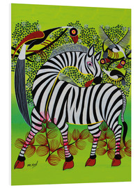 PVC-tavla  Clean Zebra in - Noel