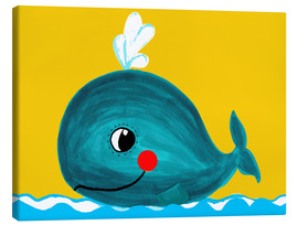Canvastavla  Frida, the friendly whale - Little Miss Arty