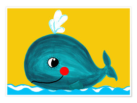 Poster  Frida, the friendly whale - Little Miss Arty