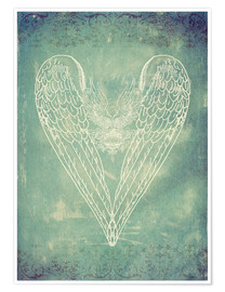 Premiumposter Vintage Winged Heart