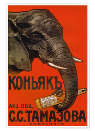 Premiumposter Elephant with bottle