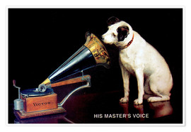 Premiumposter Victor Grammophon - His master's voice