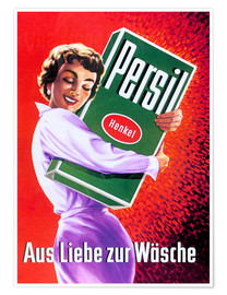 Premiumposter Persil - for the love of clothing (German)