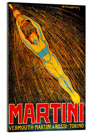 Akrylglastavla  Martini Vermouth Martini & Rossi Torino - Advertising Collection