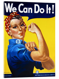 Akrylglastavla  We Can Do It! - Advertising Collection