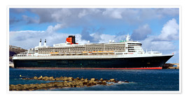 Premiumposter  Queen Mary 2 in the port of La Palma - MonarchC