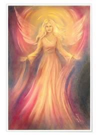 Poster  Angel of light and love - Marita Zacharias